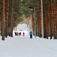 Лыжная база, освещёнка, Ишимбай