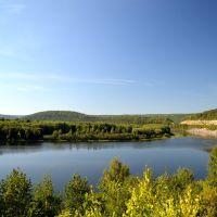 Река Уфа возле Караидели, Караидель