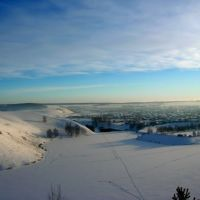 Вид с горы (Зима), Киргиз-Мияки