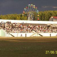 Вид со стадиона на колесо обозрения, Кумертау