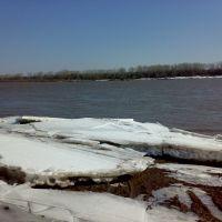The river White (Ice ashore), Кушнаренково
