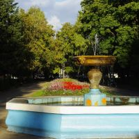 Fountain on Lenin avenu in Okt city, Bashkortostan, Russia, Октябрьский