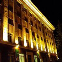 Подсветка фасада здания администрации городского округа, Октябрьский