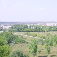 вид с Колеса обозрения (видна церковь), Сибай