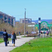 Аллея на проспекте Горняков, Сибай