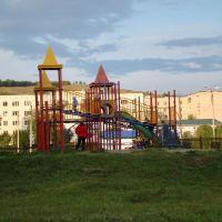 Вид на г.Лысую из парка, Учалы