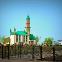mosque of the village Chekmagush. Bashkortostan, Чекмагуш