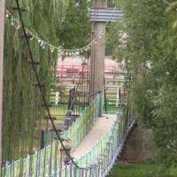 висячий мост вблизи, Алексеевка
