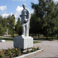 памятник воинам ВОВ возле больницы, Алексеевка