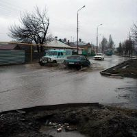 улица К. Маркса весной, Алексеевка