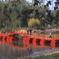 пантонный мост с берега, Алексеевка