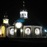 Храм Ксении Петербургской вечером, Губкин