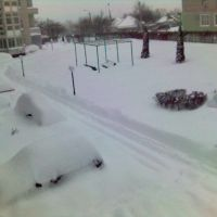 Зима на улице 2-я Академическая 28А, Губкин
