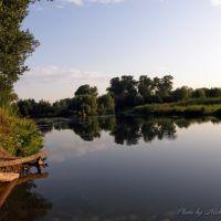 Река Оскол вечером. г. Новый Оскол. Белгородская обл., Новый Оскол