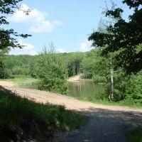Озеро в парке, Строитель