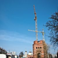 Строительство собора, Брянск