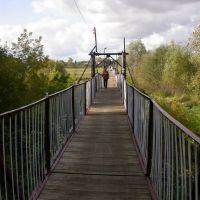 Подвесной мост через реку Беседь, Красная Гора