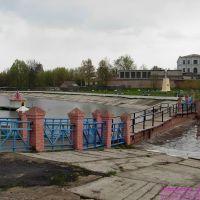 Мостик через озеро у школы, Новозыбков