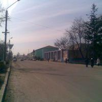 улица Октябрьская, ранее Пожарская - город Погар. (вид со стороны Пожарскокой Площади), Погар
