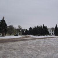 Russia, Bryanskaya oblast. Sevsk. Central square., Севск