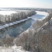 Десна зимой. Вид с Парка, Трубчевск
