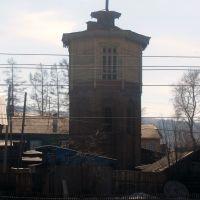 Старая водонапорная башня, г.Бабушкин,  станция Мысовая, 12.04.2014, Бабушкин