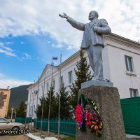 Бурятия.Памятник В.И.Ленину в Баргузине, Баргузин