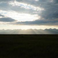 Баргузинский хребет, вид из долины, Баянгол