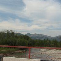 Вид с моста через р.Сиры на запад, Гусиное Озеро