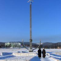Памятник авиаторам. 01.2009, Илька