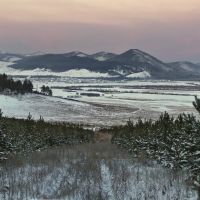 Зимний вечер в окрестностях Зырянска, Илька