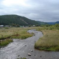 вид с мостика на речку (в сторону плотины), Каменск