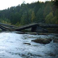 Мост через Малую Курбу, Кижинга