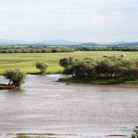 RMCh04_31 - Mongoolia, przed Suche Bator, rzeka Selenga, pierwsza jurta, Петропавловка