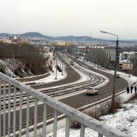 Вид с моста на улицу Балтахинова, Улан-Удэ