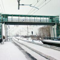 Пешеходный мост над железной дорогой. Боголюбово. Владимирская обл., Боголюбово