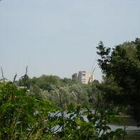 Вид на поселок от водопада, Вербовский