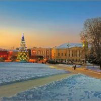 Владимир, Соборная площадь. Russia, Vladimir, the Cathedral square., Владимир