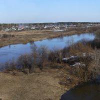 Вид с ж/д моста на военную часть 42262 ))), Городищи