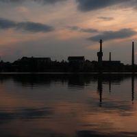 Вид с набережной озера на завод Стекловолокно. г. Гусь-Хрустальный, Гусь Хрустальный