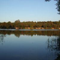 вид на берег со стороны купального места на восьмерке, Гусь Хрустальный