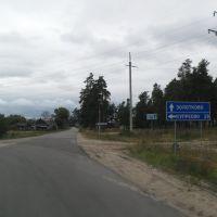 въезд в Золотково, Золотково
