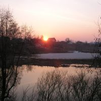 Sunset on the Kirzhach river, Киржач