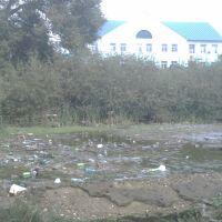 Вид на Дом Культуры г. Киржач с детской площадки, Киржач