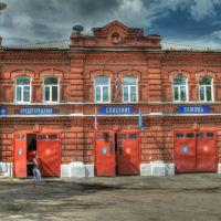 Киржач, центр. Пожарная часть. HDR. 25.07.2012, Киржач