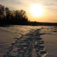 Февральский закат (February sunset), Меленки