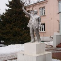 Monument to Lenin in Petushki town, Петушки