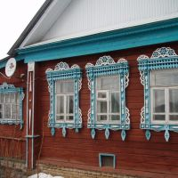 Windows of house #13 in Profsoyouznaya street, Петушки
