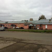 Автостанция и ряд магазинов. Служебный вход, Покров