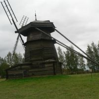 Wooden wind mill in the museum of wooden architechture, Суздаль